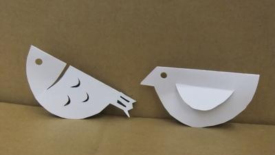 魚と小鳥の紙工作.JPG